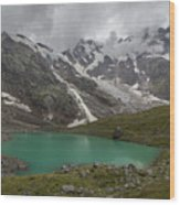 Lake Locce And Monte Rosa - Piedmont / Italy Wood Print