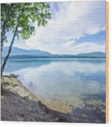Lake Mcdonald In Glacier National Park Montanaa Wood Print