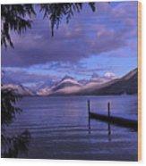 Lake Mcdonald Sunset Wood Print