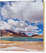 Lake Meniques In Chile Wood Print