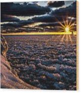 Lake Mi Sunset 8 Wood Print