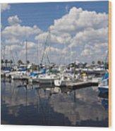 Lake Monroe At The Port Of Sanford Florida Wood Print