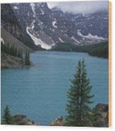 Lake Moraine In Canada Wood Print