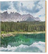 Lake Of Carezza - Italy Wood Print