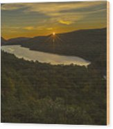 Lake Of The Clouds Sunrise Wood Print