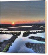 Lake Poygan Sunset Wood Print