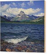 Lake Sherburne, Glacier National Park Wood Print