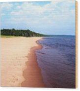 Lake Superior Shoreline Wood Print