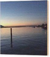 Lake Zurich At Sunset Wood Print