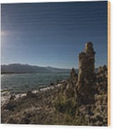 Lakefront And Sunset At Mono Lake, Eastern Sierra, California, U Wood Print