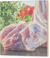 Lamb Shank Wood Print