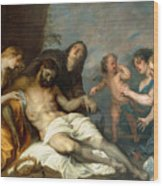 Lamentation Over The Dead Christ Wood Print