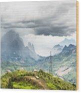 Landscape Around Kasi In North Laos Wood Print