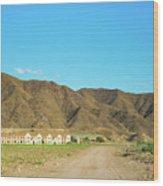 Landscape Desert In Almeria, Andalusia, Spain Wood Print