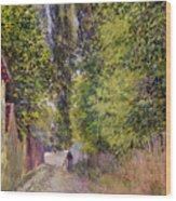 Landscape Near Louveciennes Wood Print