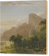 Landscape Scene From Thanatopsis Wood Print