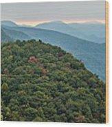 Landscape View At Cedar Mountain Overlook Wood Print