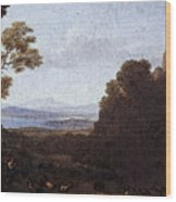 Landscape With Apollo And Mercury  Wood Print