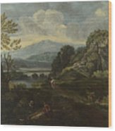 Landscape With Figures Wood Print