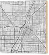 Las Vegas Nevada Usa Light Map Wood Print