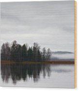 Late Fall Morning Wood Print