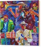Latin Jazz Wood Print
