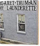 Launderette Wood Print