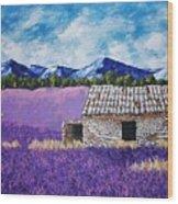 Lavender Farm Wood Print