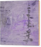 Lavender Gray Abstract Wood Print