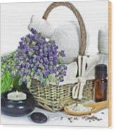 Lavender Spa Wood Print
