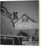Laws Depot And Locomotive 9 Wood Print