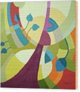 Leaning Towards Fall Wood Print by Carola Ann-Margret Forsberg