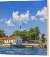 Leaving Gotland Wood Print