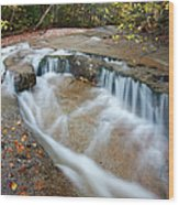 Ledge Brook - White Mountains New Hampshire Usa Wood Print by Erin Paul Donovan