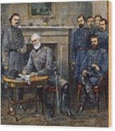 Lees Surrender, 1865 Wood Print