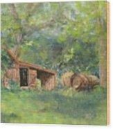 Leftover Hay Wood Print