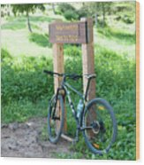 Leisure Cross Contry Cyclists Wood Print