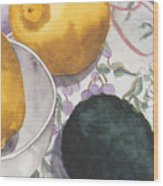 Lemons And Avocado Still-life Wood Print