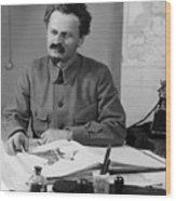 Leon Trotsky (1879-1940) Wood Print