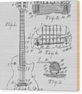 Les Paul  Guitar Patent From 1955 Wood Print