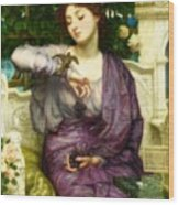 Lesbia And Her Sparrow Wood Print