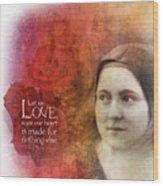 Let Us Love II Wood Print