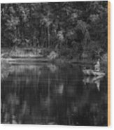 Let's Go Fishing Wood Print