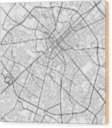 Lexington Kentucky Usa Light Map Wood Print