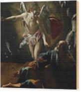 Liberation Of Saint Peter Wood Print