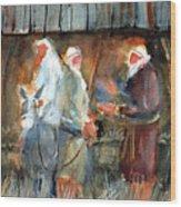 Liberty - At The Manger Wood Print