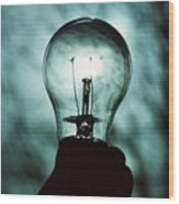 Light Bulb Wood Print
