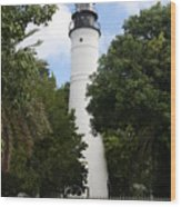Lighthouse - Key West Wood Print