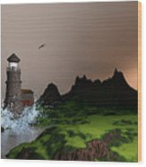 Lighthouse Landscape By John Junek Fine Art Prints And Posters Wood Print