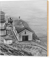 Lighthouse On The Point Wood Print